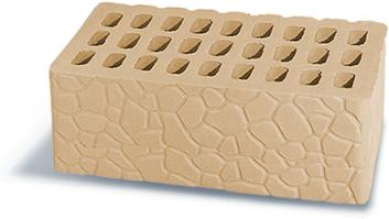Кирпич Аксайский керамический утолщенный рельефный