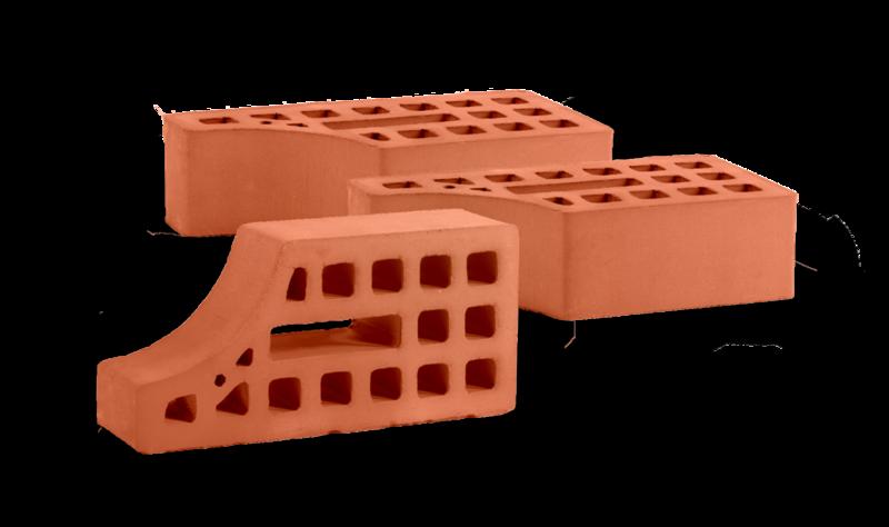 Кирпич керамический карнизный пустотелый декоративно-отделочный одинарный (вогнутый)
