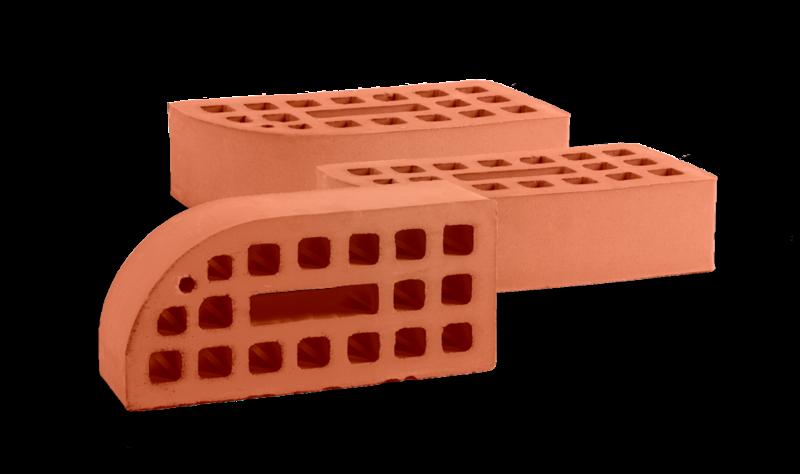 Кирпич керамический карнизный пустотелый декоративно-отделочный одинарный (выпуклый)