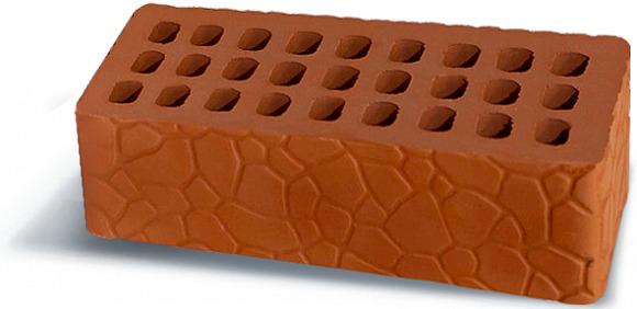 Кирпич Аксайский керамический  одинарный рельефный