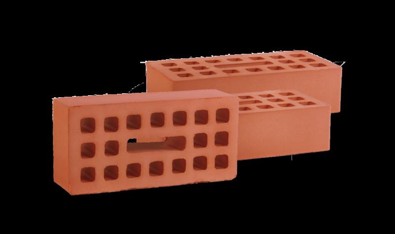 Кирпич одинарный керамический рядовой пустотелый